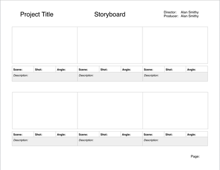 Storyboard Template For NEW Pages by RKMStudios