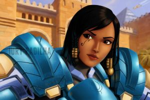 Overwatch Pharah by iurypadilha
