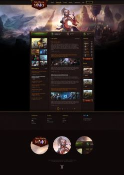 Role Playing Game Website Template by DKartsStudio
