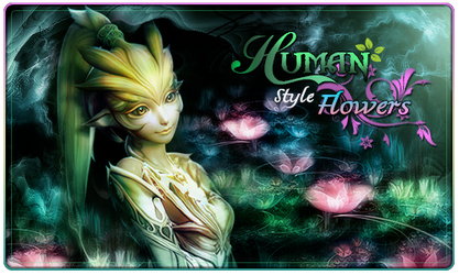 Human style flowers by 3stym
