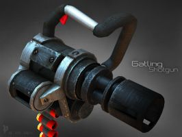 Gatling Shotgun textured by soongpa