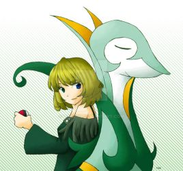 Kaede and Serperior by daimiku