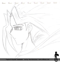 Yugioh @ Atem Sketch 2 by ElfBean