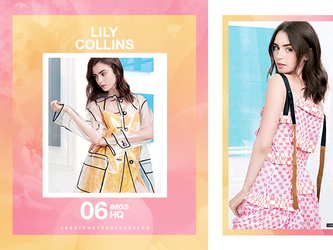 Photopack 29341 - Lily Collins by southsidepngs
