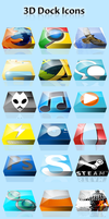 3D Dock Icons by pupserbaer