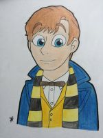 Newt Scamander by Infinity-Drawings