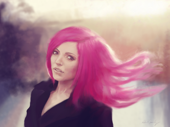 Pink On a Cold Day (wip) by Tefrem34
