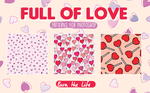 Full of Love || PATTERNS 4 PHOTOSHOP || by Burn-the-life