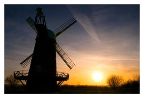 Wilton Windmill Sunset by Neutron2K