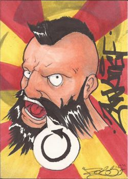 Zangief Sketch Card by Ross-A