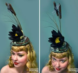 Dark Waters fascinator by liselotte-eriksson