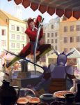 The fight in the market by Feael