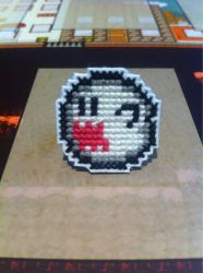 Boo cross stitch pin by fangy89