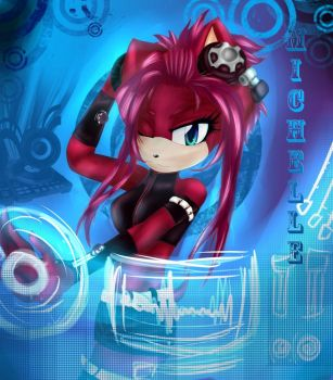 Michelle the Hedgehog DJ by M-Laurent
