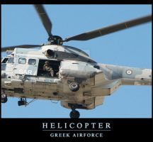 Helicopter of Greek Airforce