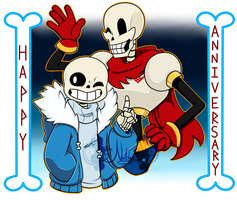 [P] Happy 1 Year Anniversary ::Undertale:: by NobleChinchi