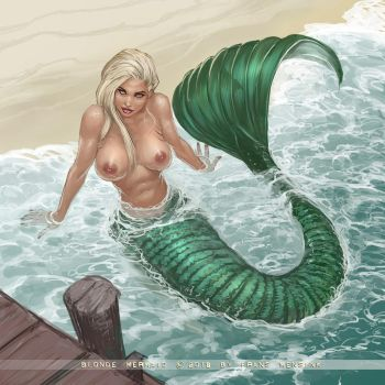 Blonde Mermaid by FransMensinkArtist