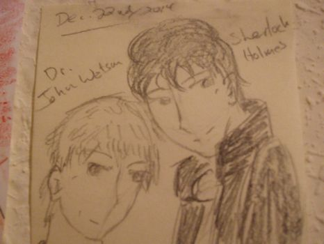 attempt at drawing John and Sherlock together by djlee6
