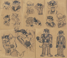SWAT Kats Sketches by TheScarletDragon
