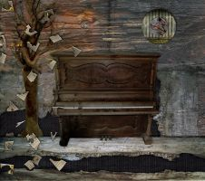 Music Room Background by mysticmorning