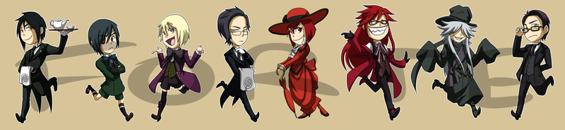 Stickers: Black Butler by forte-girl7