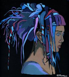 The girl with the blue dreads. by KlementinaMoonlight