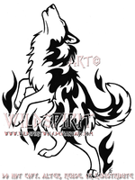 Flame Husky Tribal Tattoo by WildSpiritWolf