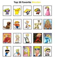 My Top 20 Favorite Blondes by BeeWinter55