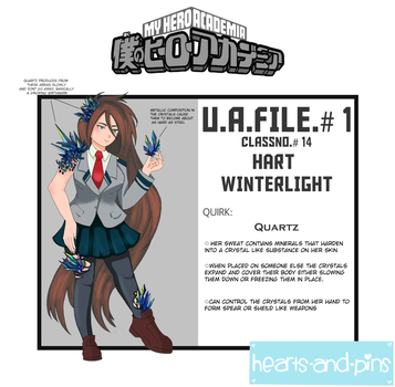 BNHA OC: Hart Winterlight by hearts-and-pins