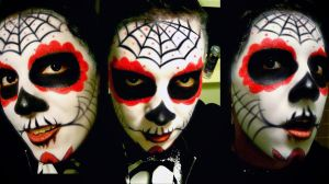Day of the Dead Make up by Pure-Oxido