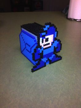Megaman Coaster Set Collapsed by PixelSculptures