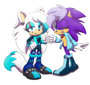 Trade - Sonica and Razzle by Karneolienne