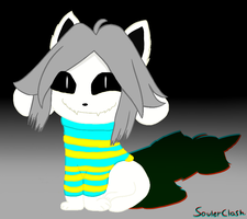 Underswap Temmie - Greeting you from The Void! by SoulerClash