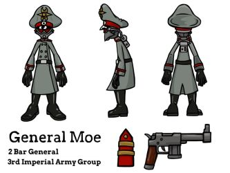 General Moe character overview by The-General-Moe