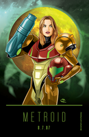Metroid Poster by Tloessy