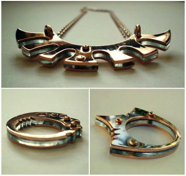 Abyssal Light Gap - Pendant and rings by Atgill