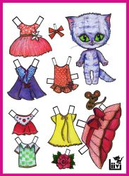 Kitty cat paper doll. by Mauau