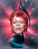 David Bowie Ziggy Stardust by cylevie