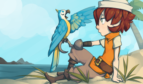102313 :: A Parrot and his Adventurer by fetalstars