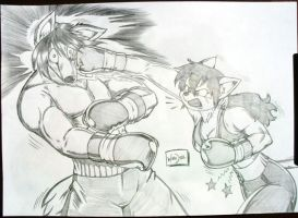 Counterattacking. by Drawing-4Ever