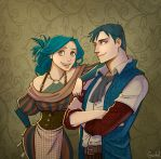 Brother and sister by Grimhel