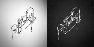 Fluky custom lettering by CHIN2OFF