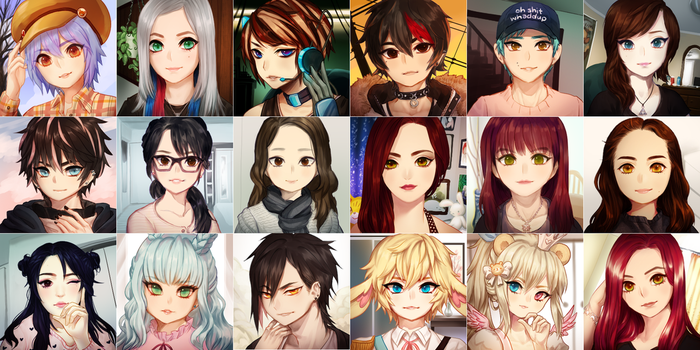commission -- mystic messenger icons by onisuu