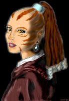 Cathar with Pearl Earring by Karacat