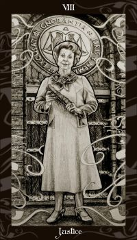 HP Tarot - 8 Justice by Ellygator