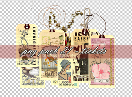 PNG PACK 22 - TICKETS by ChantiiGG