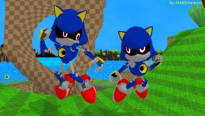 MMD Sonic Newcomers - Metal Sonics +DL+ by MMDCharizard