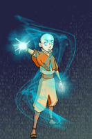 Glowing Aang by LivingAliveCreator
