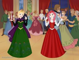 Elsa and Elodie (Frozen/Long Live The Queen) by suburbantimewaster