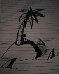 guy trapped in a desert island by beamaa4